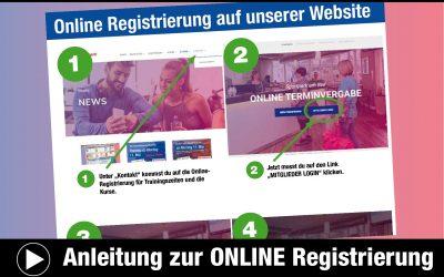 Anleitung zur ONLINE Registrierung